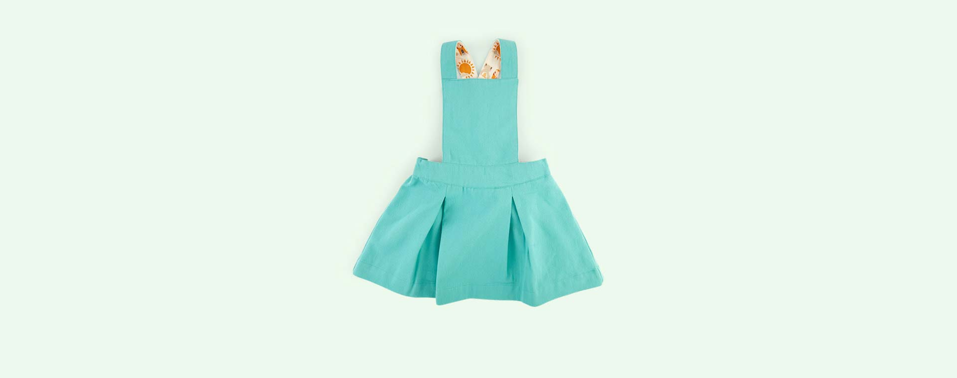 Pale Turquoise Little Green Radicals Pinafore Dress