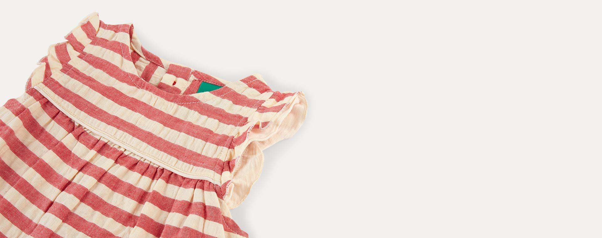 Red Stripe Little Green Radicals Dress