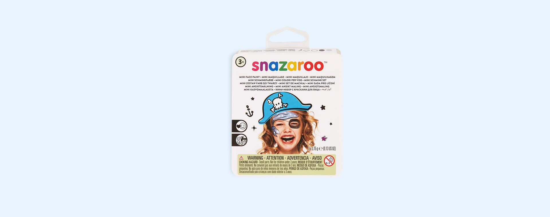 Blue Pirate Snazaroo Theme Face Paint Pack