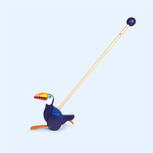 Blue Sunnylife Push Along Toucan