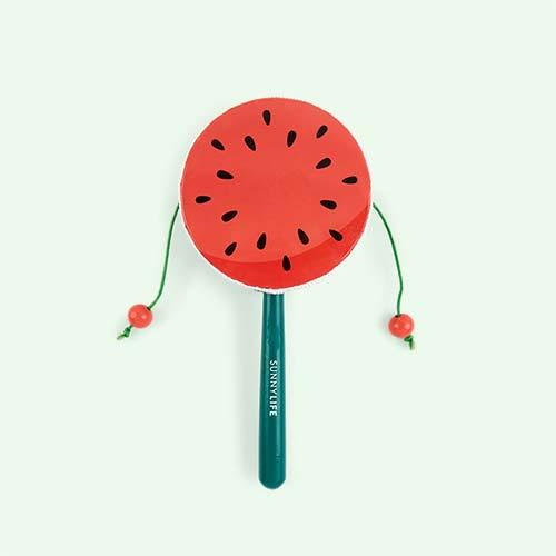 Multi Sunnylife Watermelon Rattle Drum