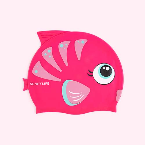 Pink Sunnylife Swimming Cap