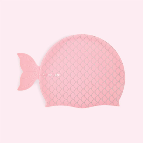 Pink Mermaid Sunnylife Swimming Cap