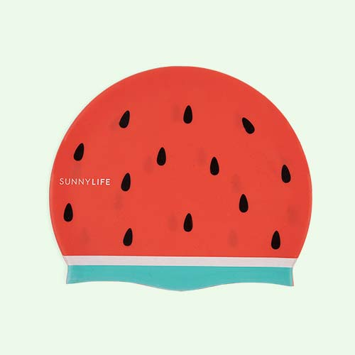 Watermelon Sunnylife Swimming Cap