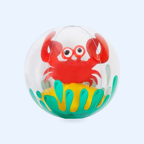 Multi Sunnylife 3D Inflatable Beach Ball Crabby