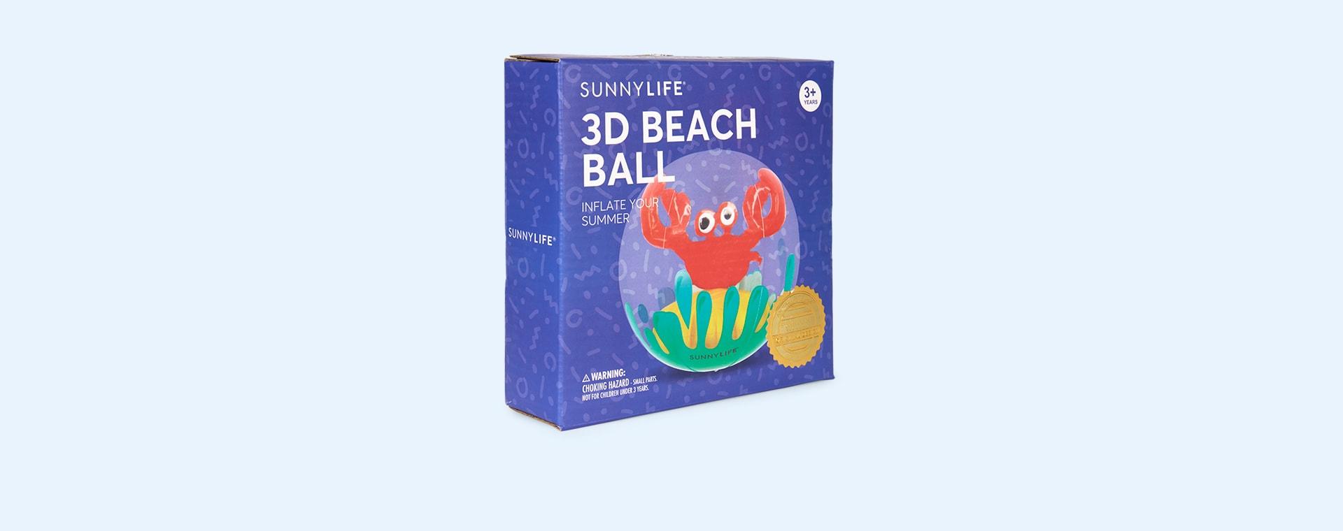 Crabby Sunnylife 3D Inflatable Beach Ball