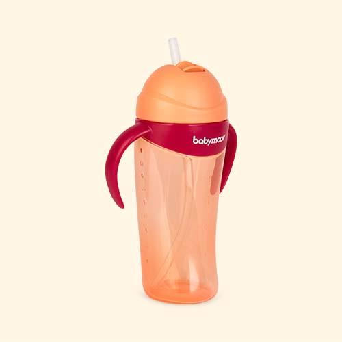 Peach Babymoov Cup With Straw