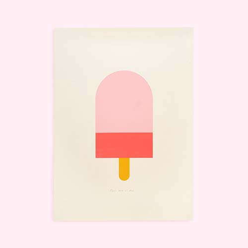 Multi Engel Ice Cream  Screen Print