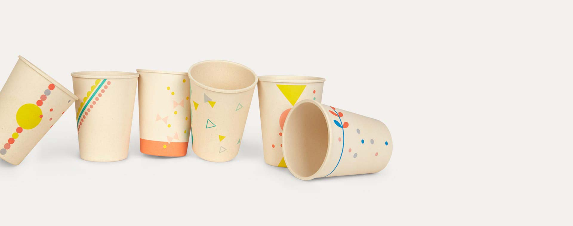 Printed Engel Bamboo Cup Set