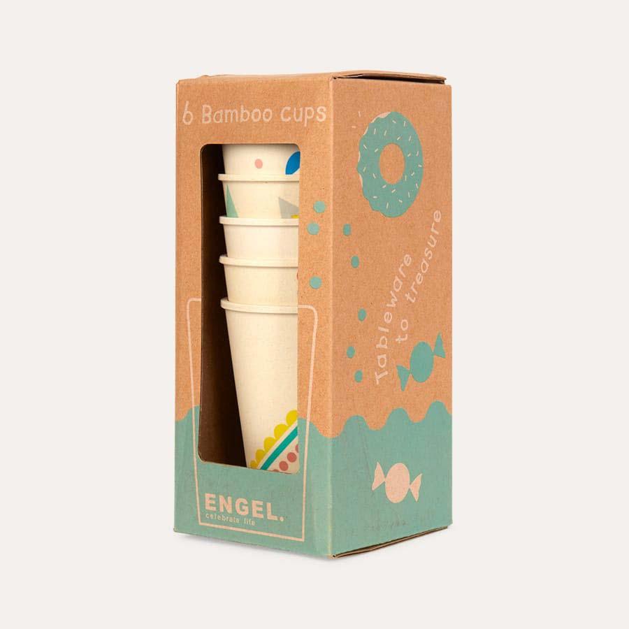 Printed Engel Bamboo Cup Set