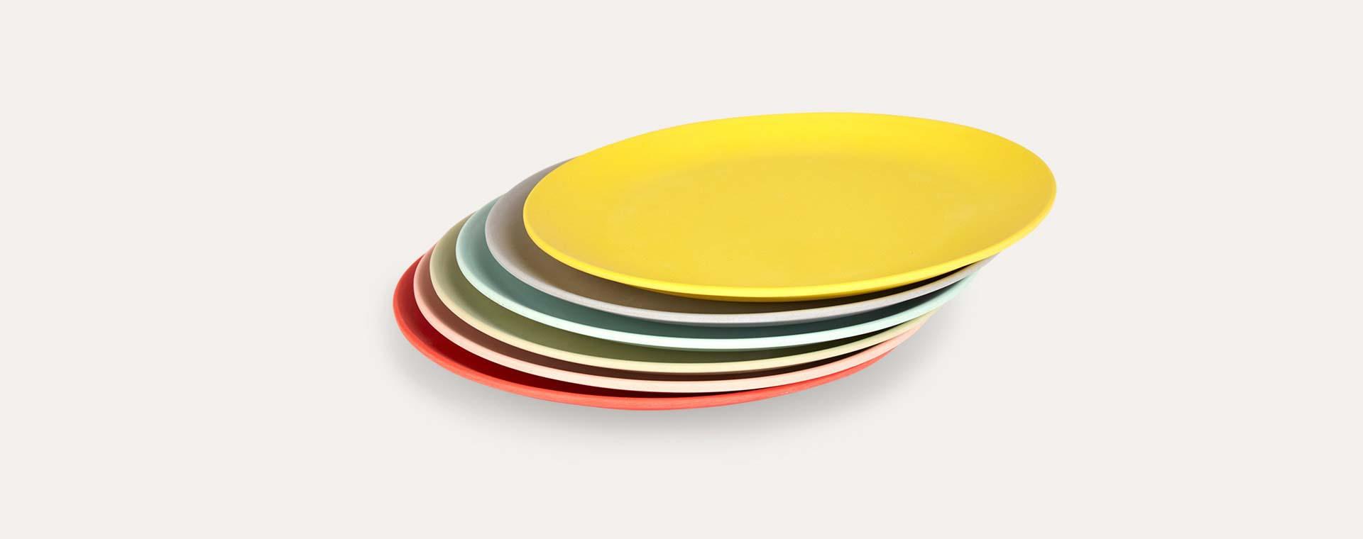 Multi Engel Bamboo Plate Set