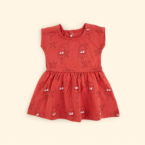 Coral La Queue du Chat Lollipop Dress
