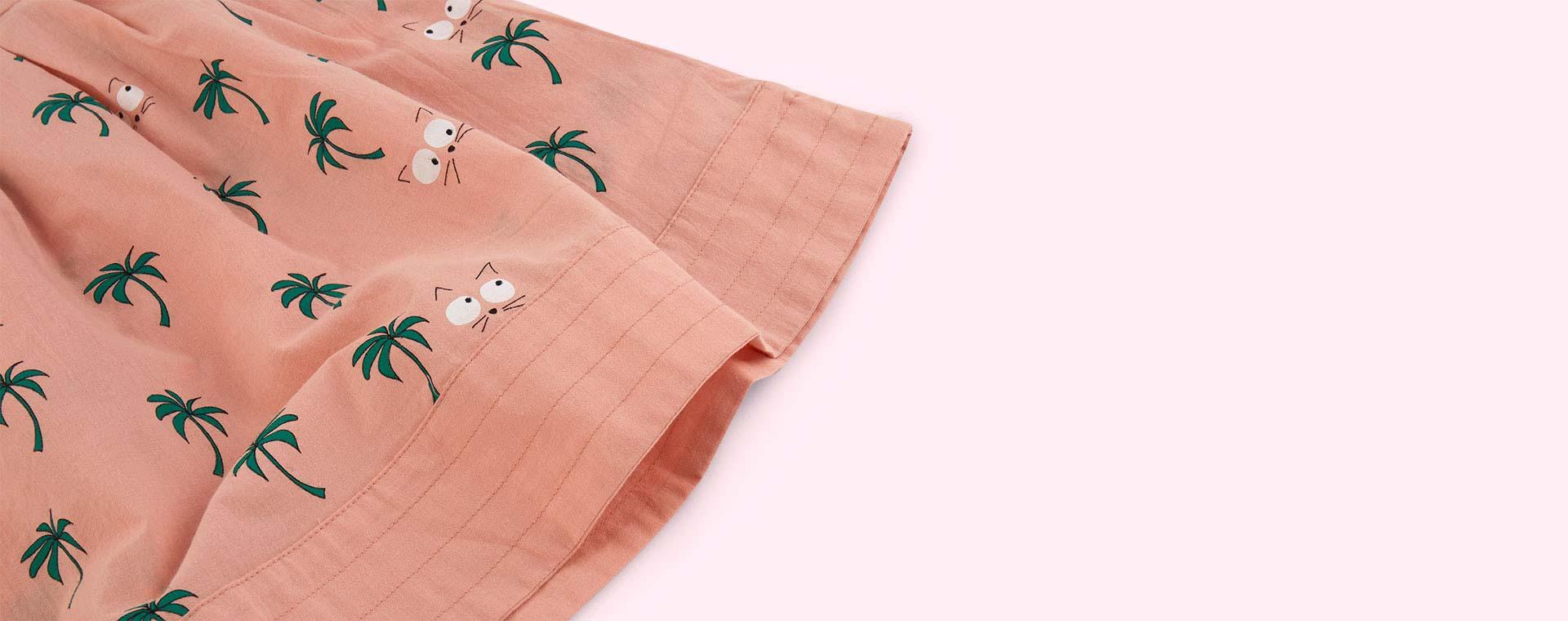 Vintage Pink La Queue du Chat Palm Tree Baby Dress