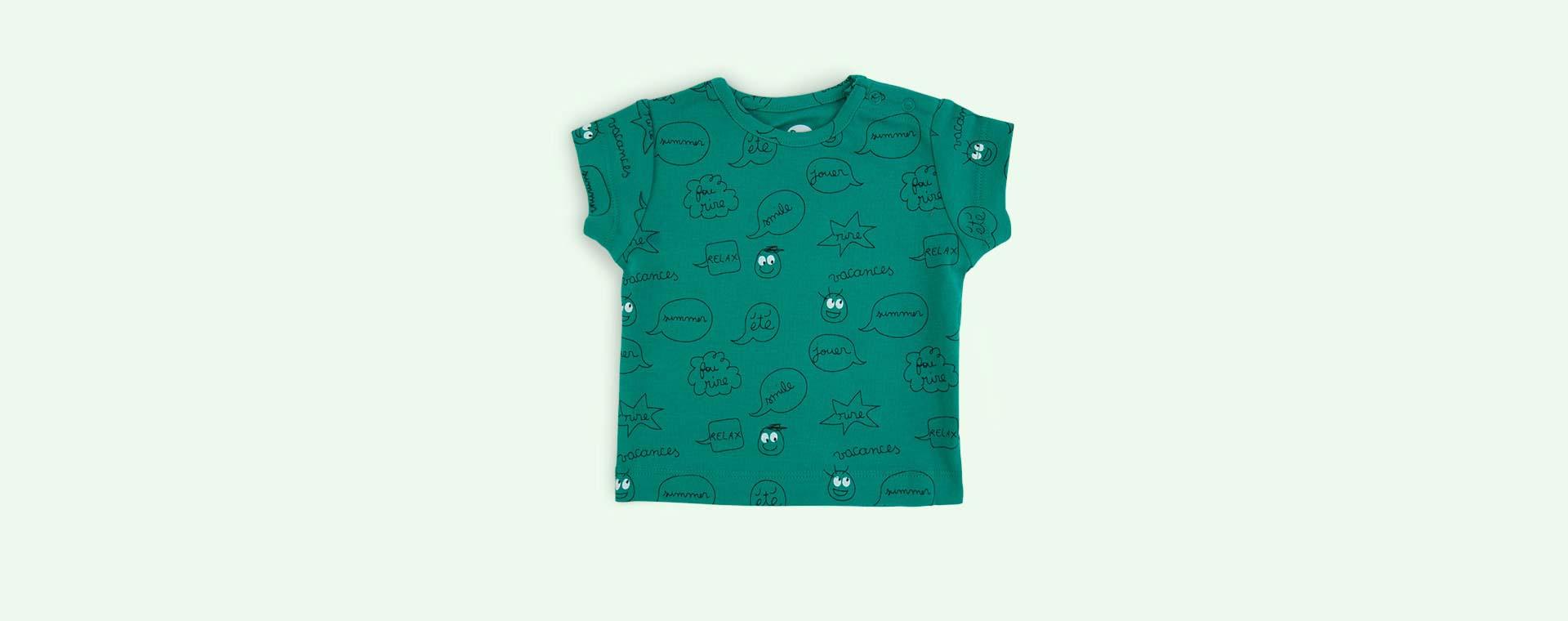 Mint Green La Queue du Chat Comic Strip T-Shirt