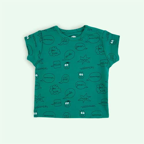 Mint Green La Queue du Chat Comic Strip T-Shirt