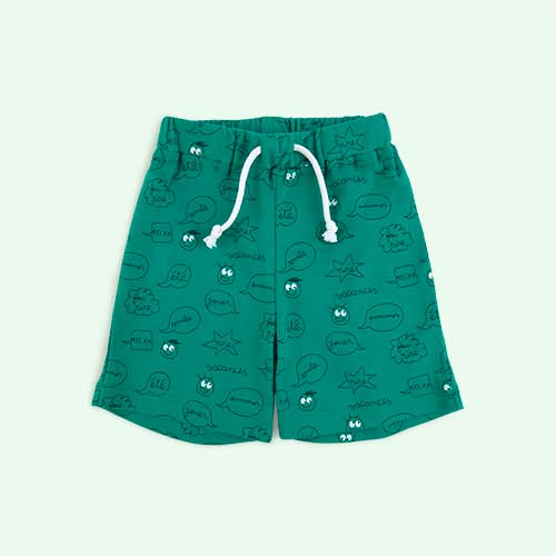 Mint Green La Queue du Chat Comic Strip Shorts