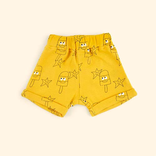 Yellow La Queue du Chat Sunny Baby Shorts