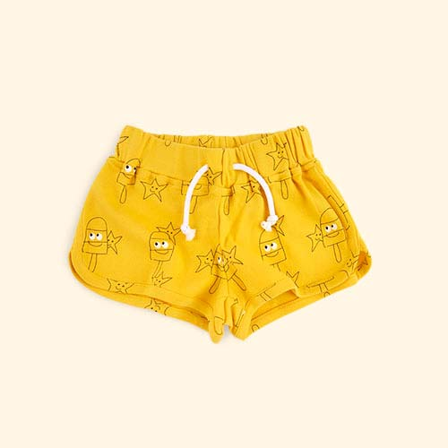 Yellow La Queue du Chat Sunny Shorts