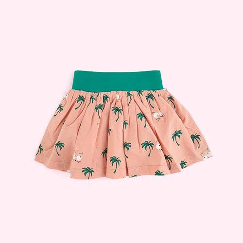 Vintage Pink La Queue du Chat Hawaii Skirt
