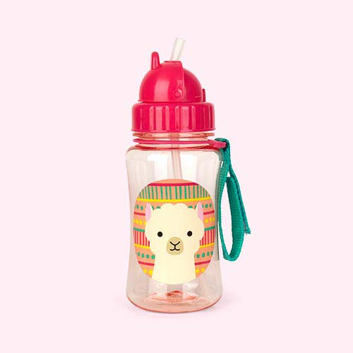 Llama Skip Hop Zoo Straw Bottle