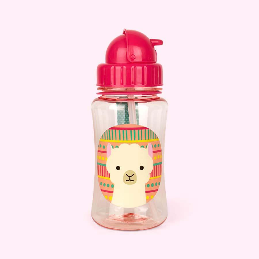 Llama Skip Hop Zoo Straw Bottle