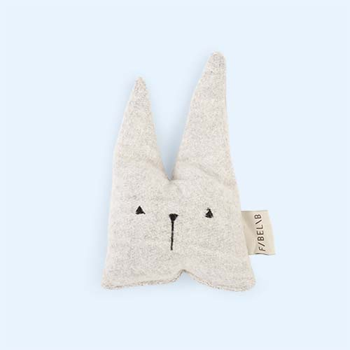 Grey Fabelab Travel Bunny Rattle