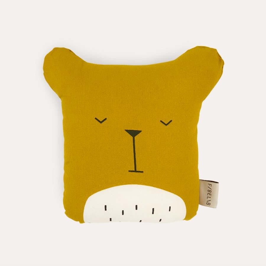 Mustard Fabelab Animal Cushion Lazy Bear