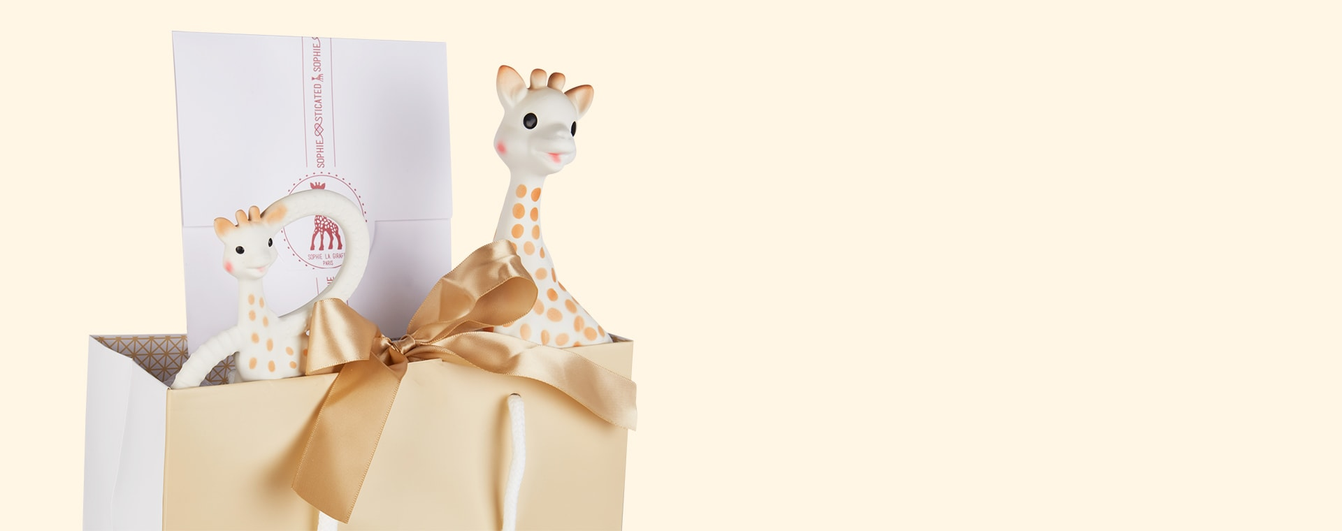 Neutral Sophie la Girafe Sophiesticated Teether Set