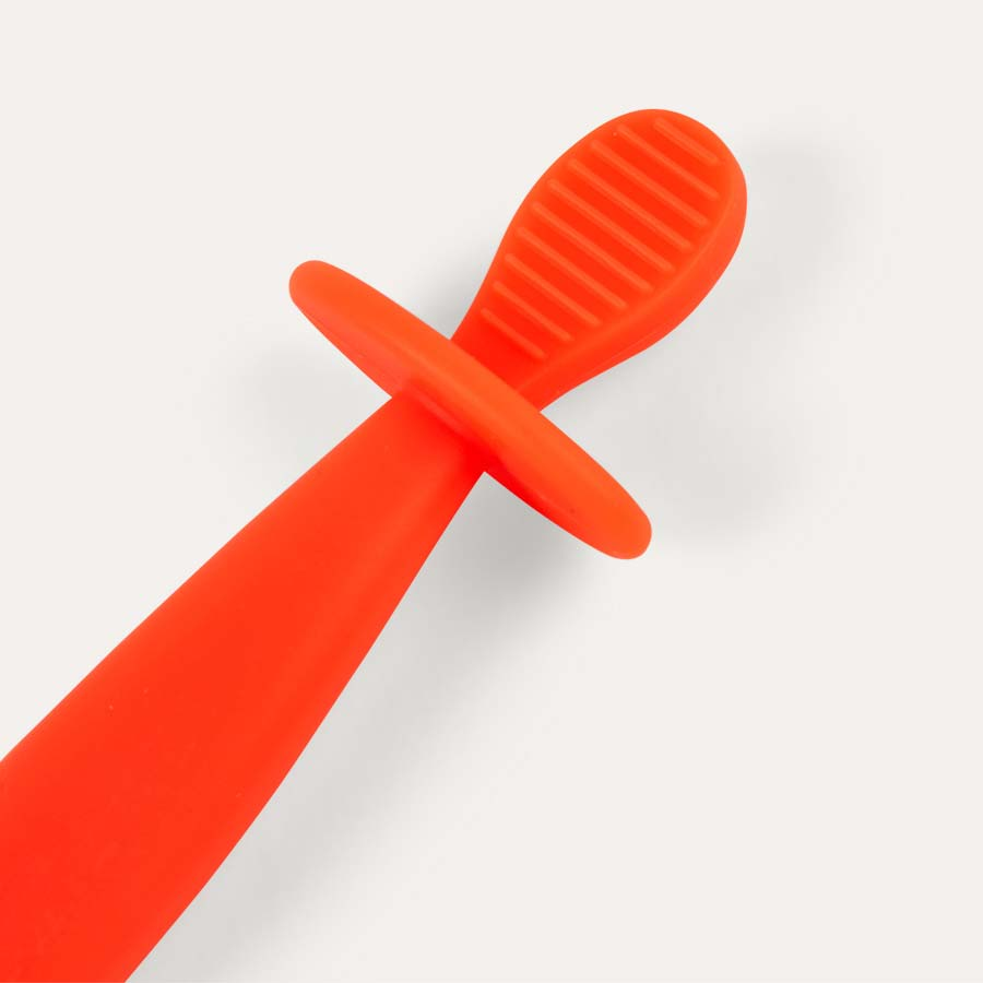 Orange uki.be First Weaning Spoon and Toothbrush
