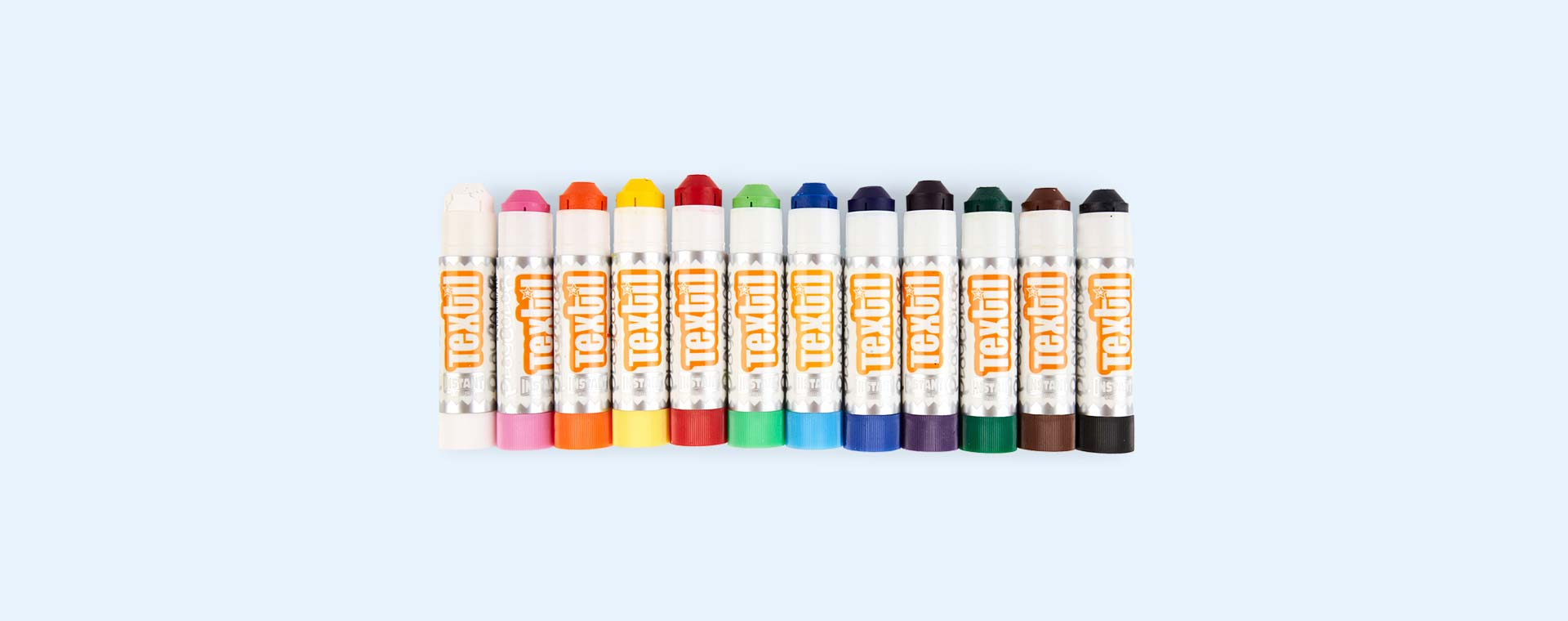 Multi Playcolor Fabric Poster Paint Sticks 12 Pack