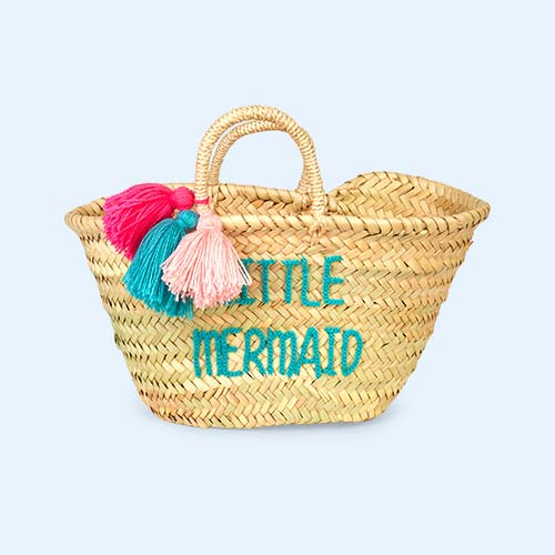 Little Mermaid Rose In April Embroidered Bag