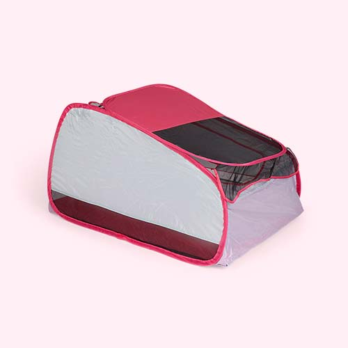 Pink bbgg-baby Travel Cot