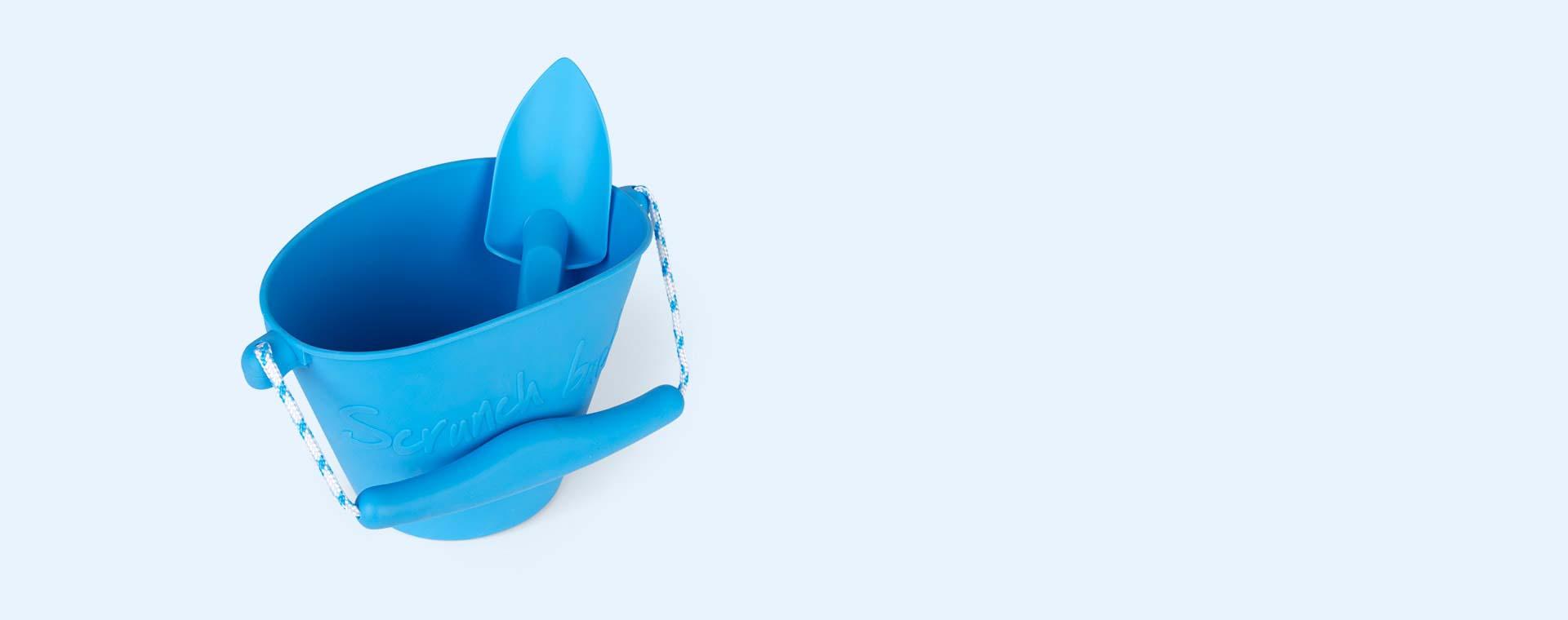 Blue Scrunch Scrunch Bucket