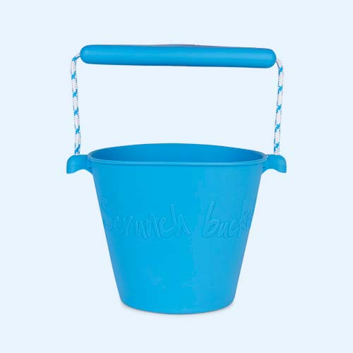 Blue Scrunch Scrunch Bucket