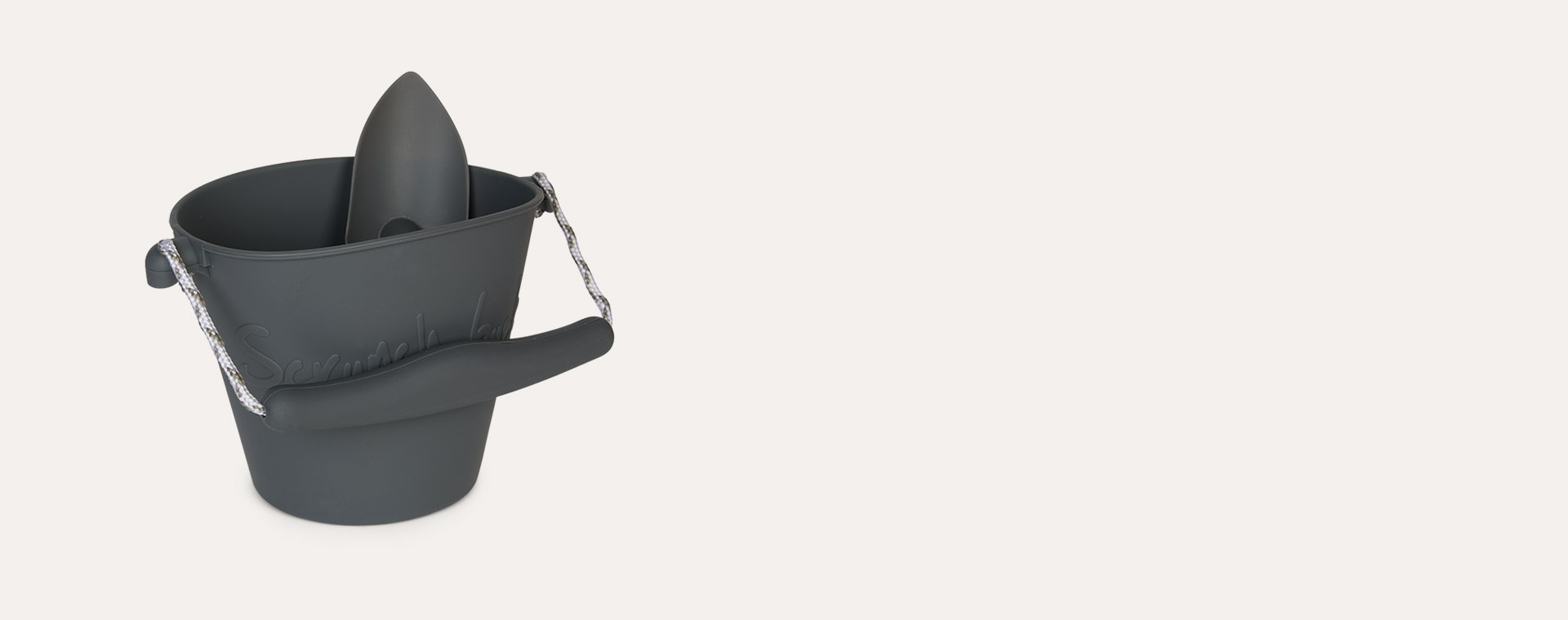 Charcoal Scrunch Scrunch Bucket