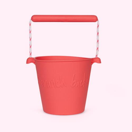 Pink Scrunch Scrunch Bucket
