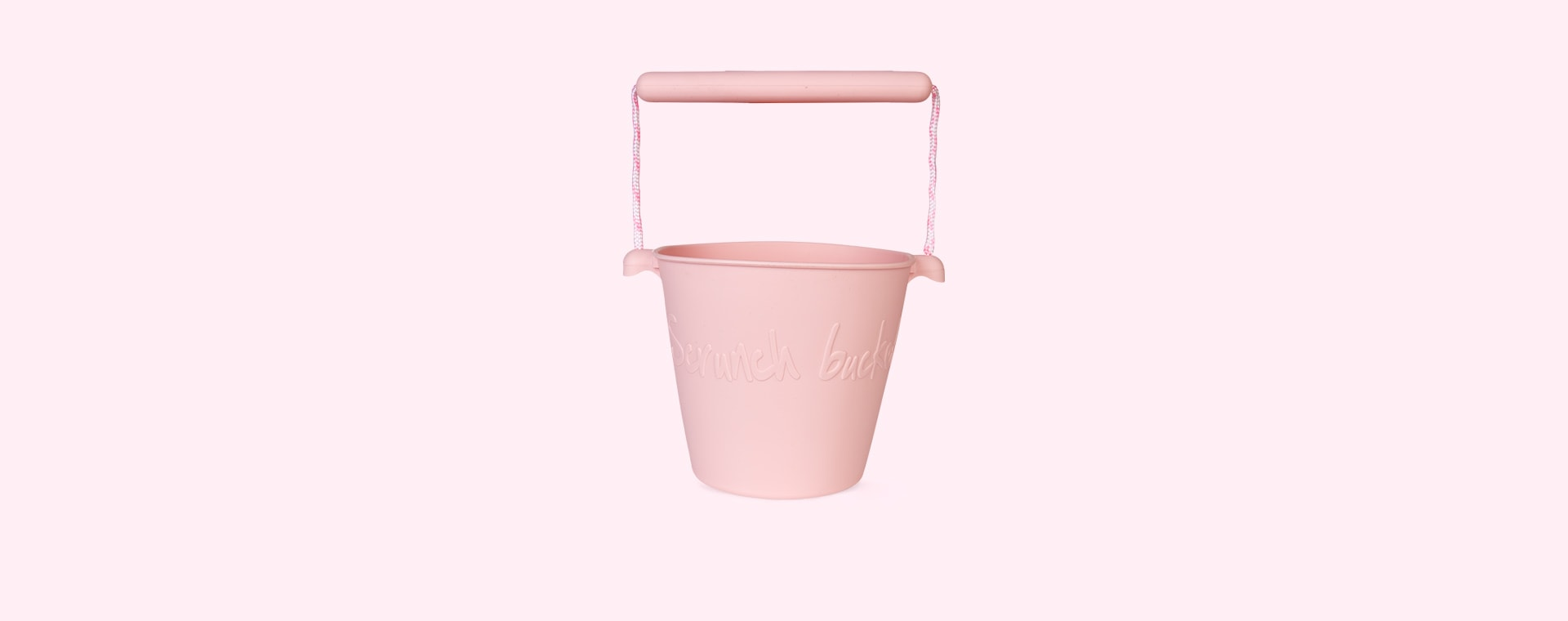 Blush Pink Scrunch Scrunch Bucket
