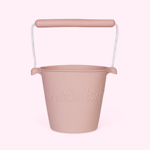 Dusty Rose Scrunch Scrunch Bucket