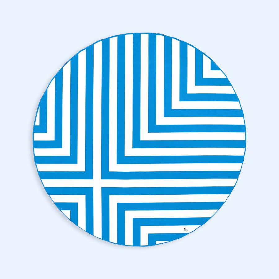 Bondi Blue Dock & Bay Round Towel