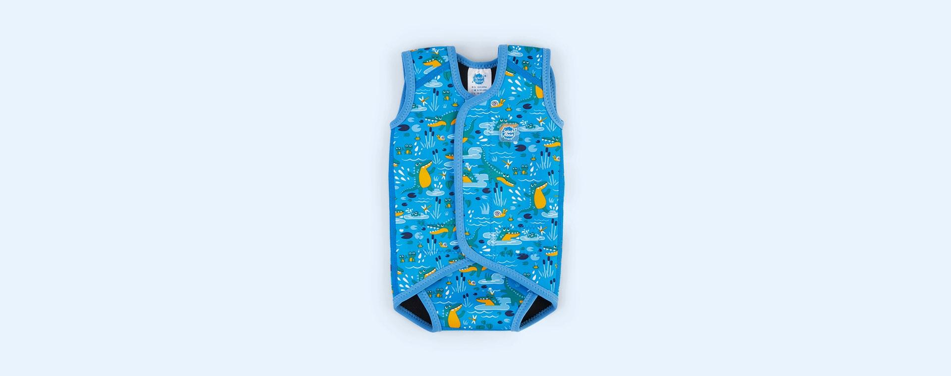 Crocodile Blue Splash About Baby Wrap