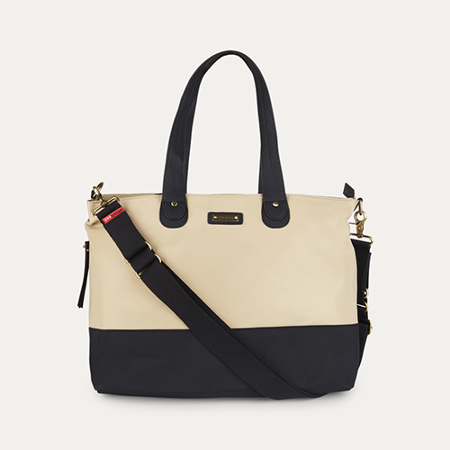 Champagne Black Storksak Tote Changing Bag