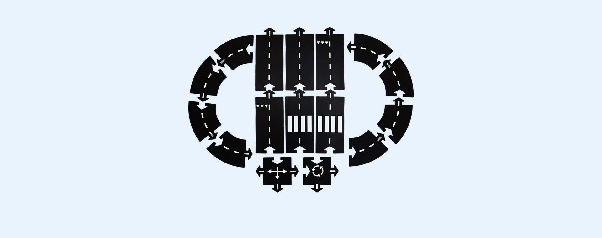 Black waytoplay Expressway 16 Piece Set
