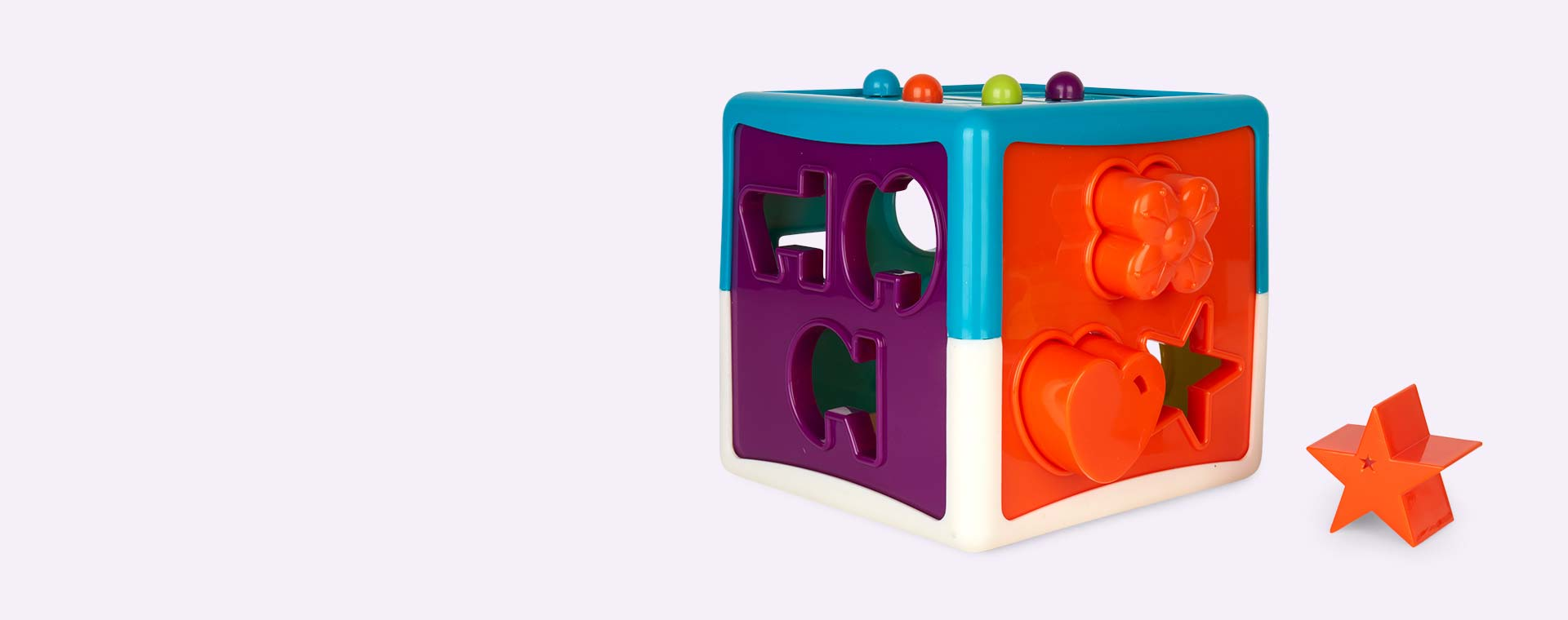 Multi Battat Shape Sorter Cube