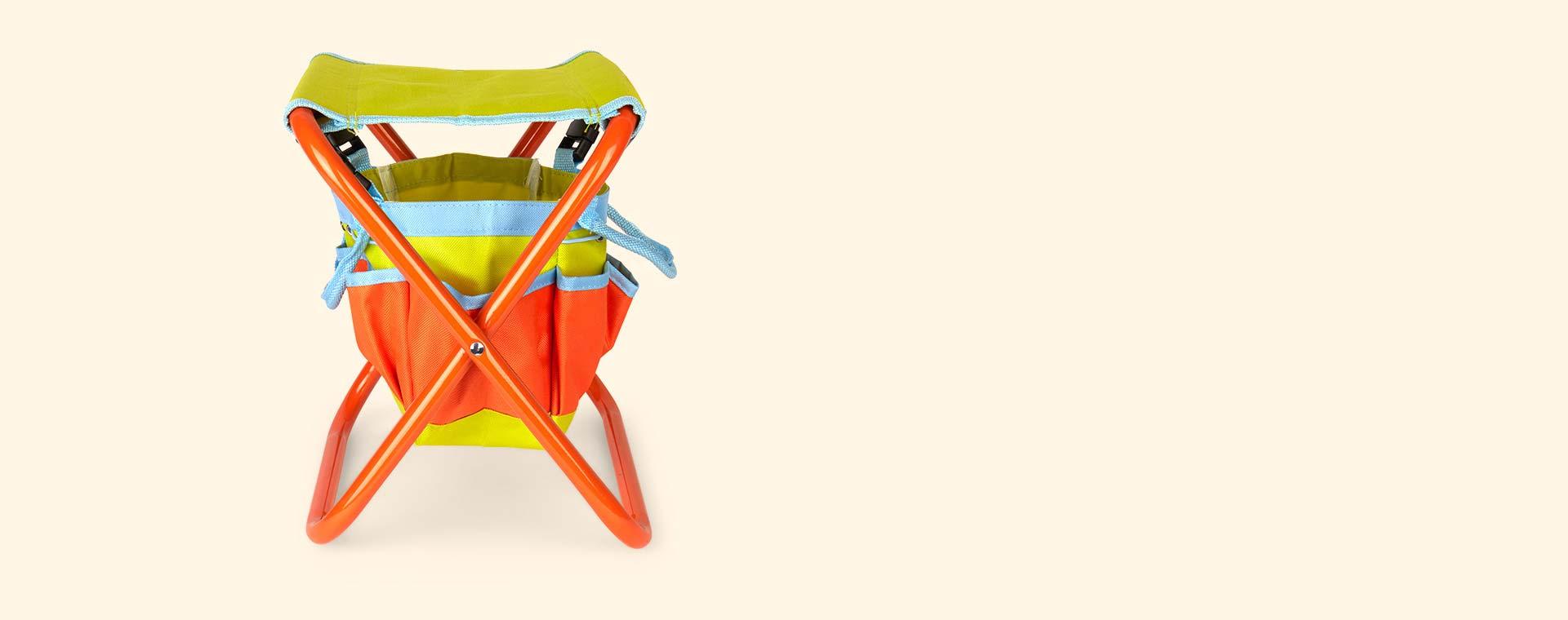 Orange & Green Briers Folding Seat