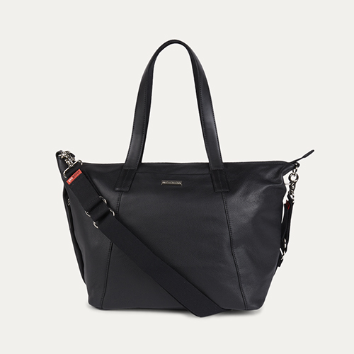 Black Storksak Noa Leather Changing Bag