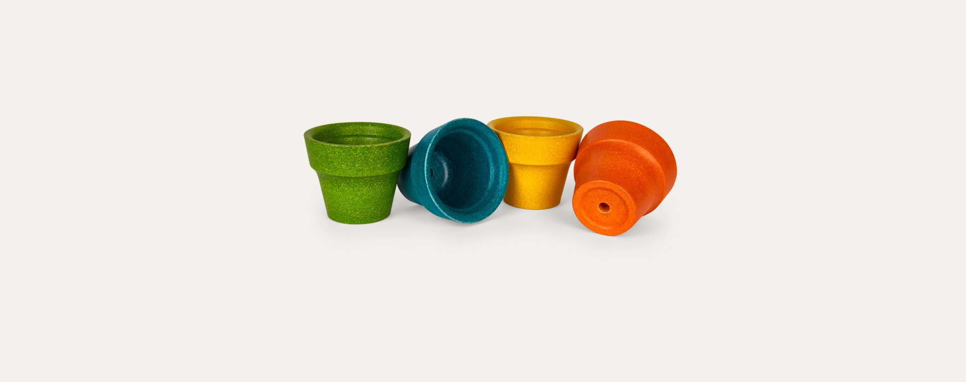 Multi Plan Toys 4-Pot Flower-pot Set