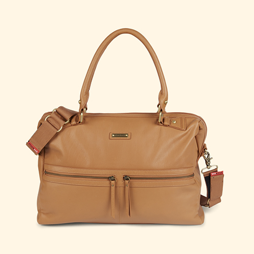 Tan Storksak Caroline Leather Changing Bag