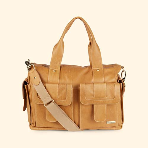 Tan Storksak Sofia Leather Changing Bag