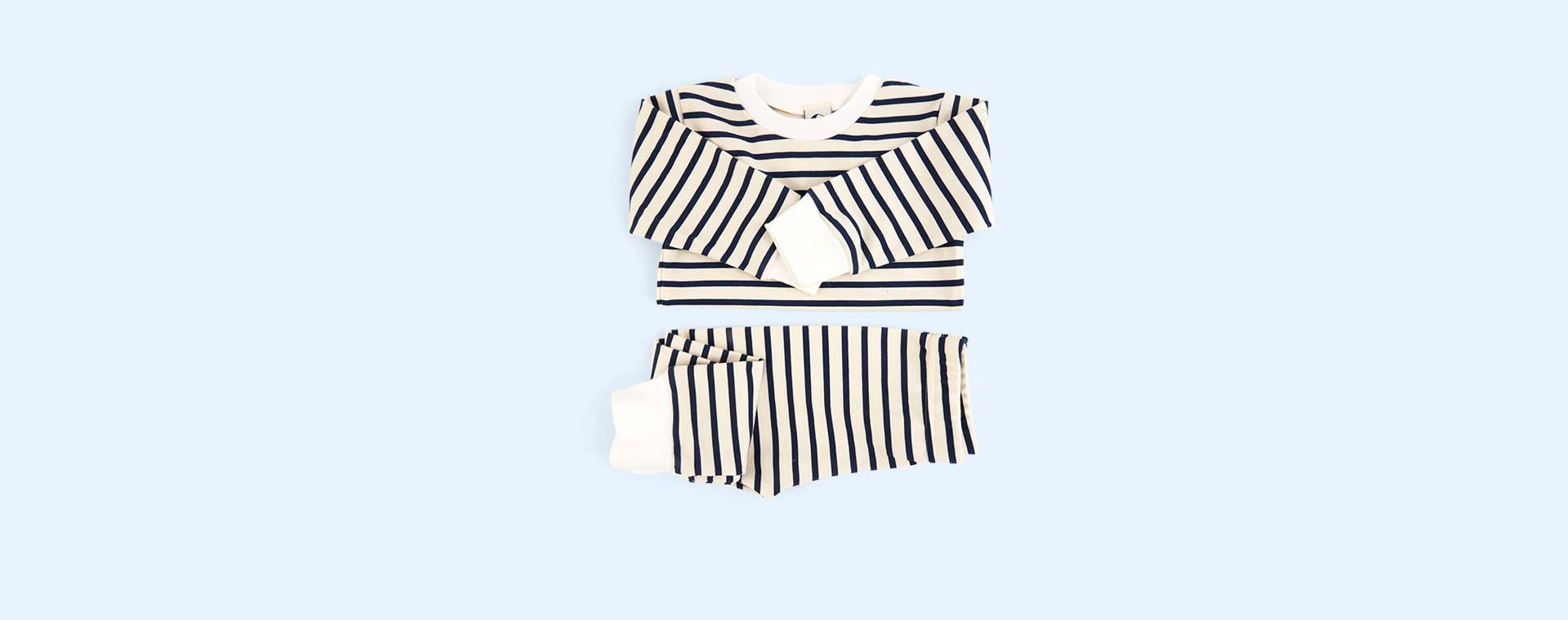 Navy Stripe Sleepy Doe Classic Breton PJ Set