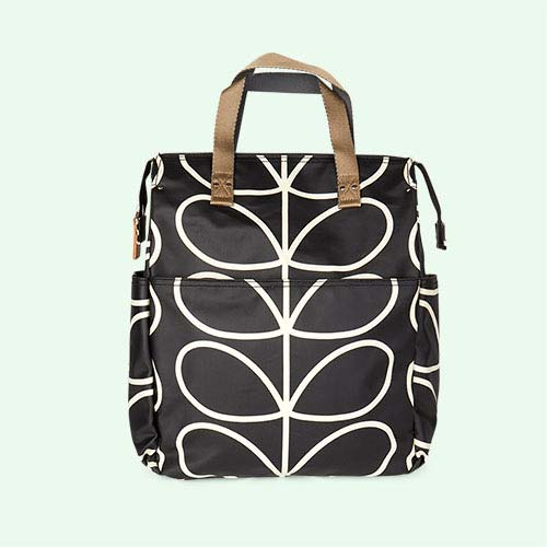 Liquorice Linear Stem Orla Kiely Backpack Baby Bag